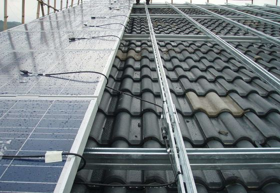 Pitched Roof Solar Panel Roof Mounting Systems Good Apperance